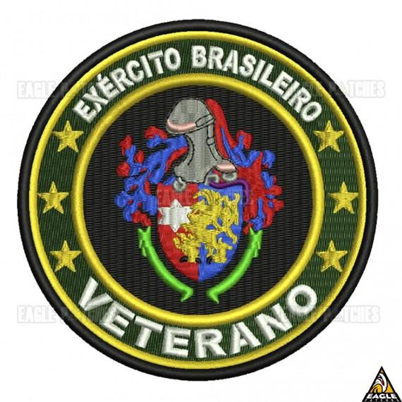 Patch Bordado Brazilian Veteran | Veterano brasileiro