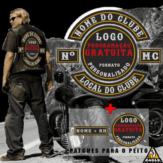 Kit Premium Motociclista - Patches Personalizados para colete com Programação GRATUITA