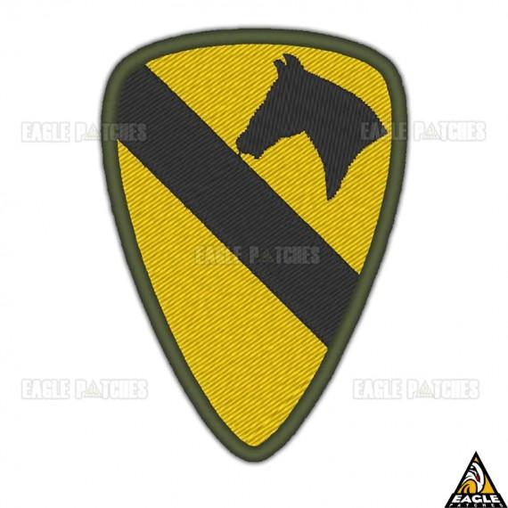 Patch Bordado 1a. Divisão de Cavalaria Aerotransportada - EUA