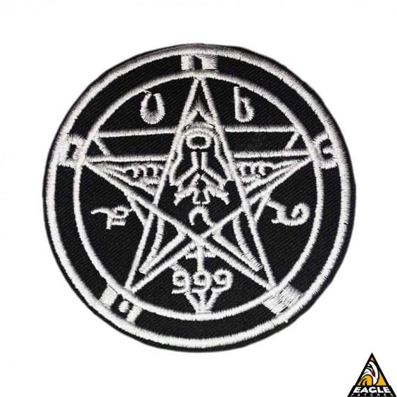 Patch Bordado 666 Demonic Goat Pentagram