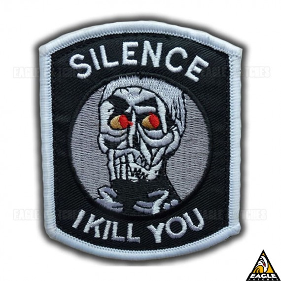 Patch Bordado Achmed - Silence I Kill You