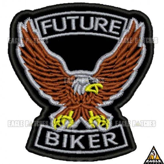 Patch bordado águia future biker