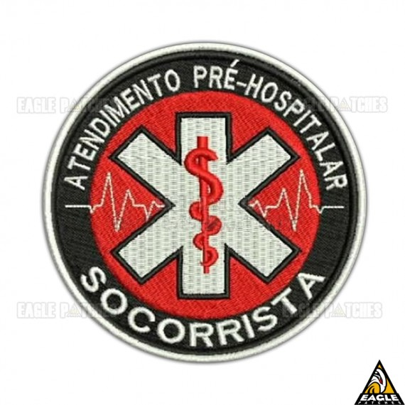 Patch Bordado Atendimento Pré-Hospitalar - Socorrista