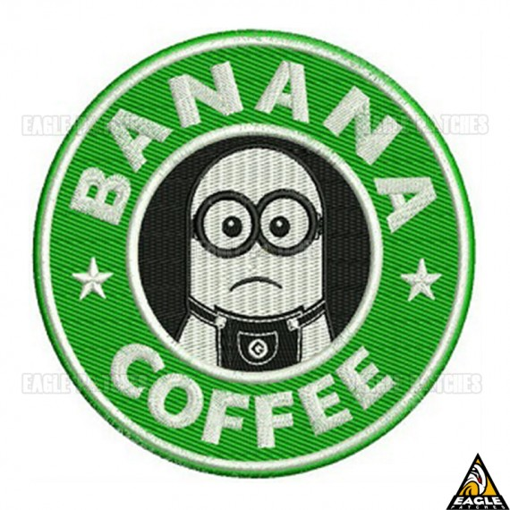 Patch Bordado Banana Coffee
