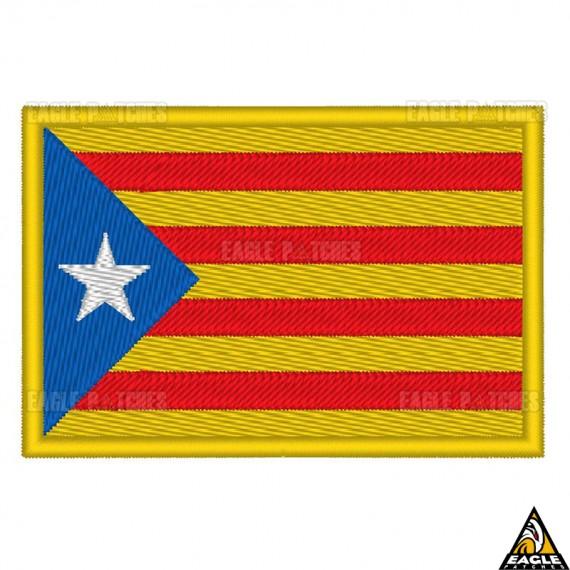 Patch Bordado Bandeira Catalunya/Catalunha