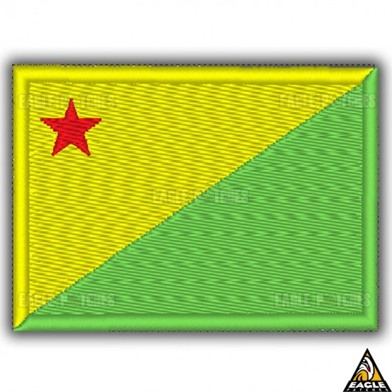 Patch Bordado Bandeira de Acre