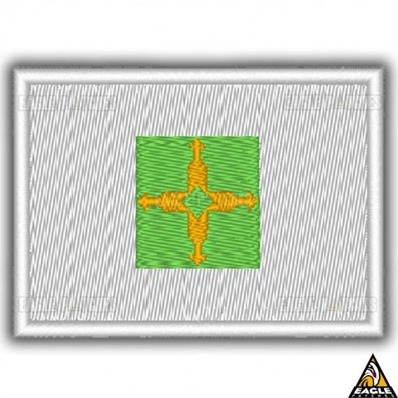Patch Bordado Bandeira de Distrito Federal