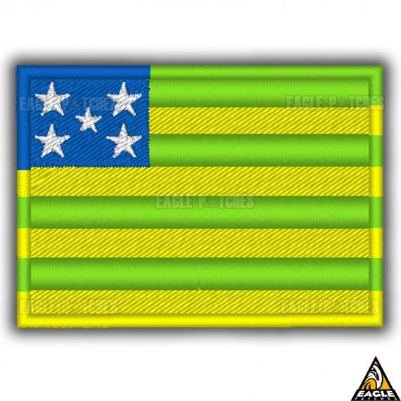 Patch Bordado Bandeira de Goias