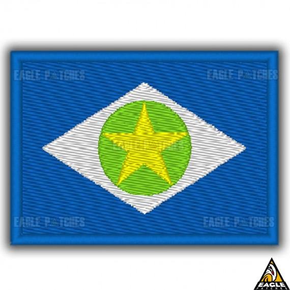 Patch Bordado Bandeira de Mato Grosso