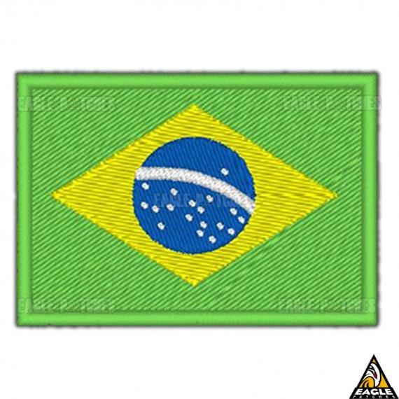 Patch Bordado Bandeira Do Brasil Tática
