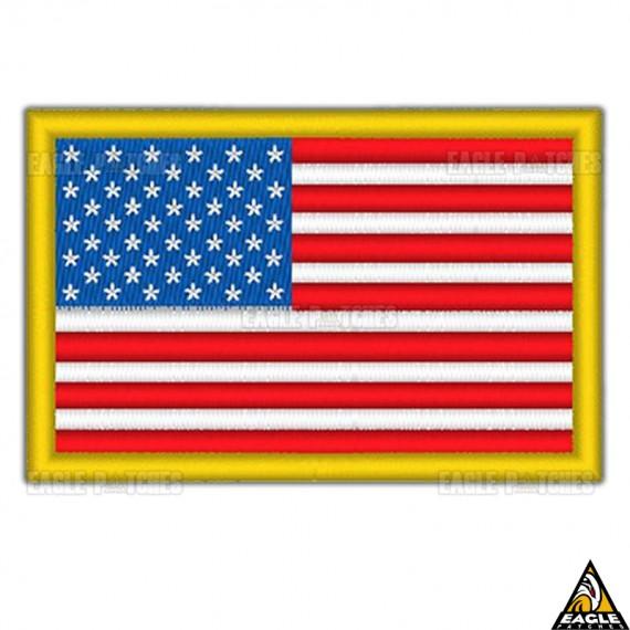 Patch Bordado Bandeira EUA Tática