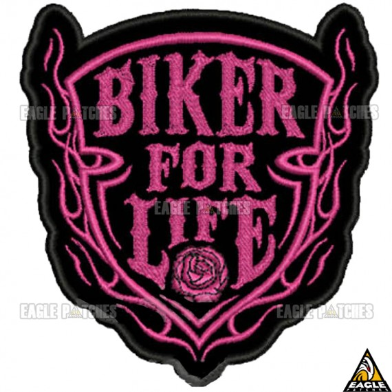 Patch bordado Biker for life