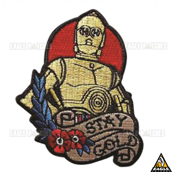Patch Bordado C3PO Stay Gold Star Wars