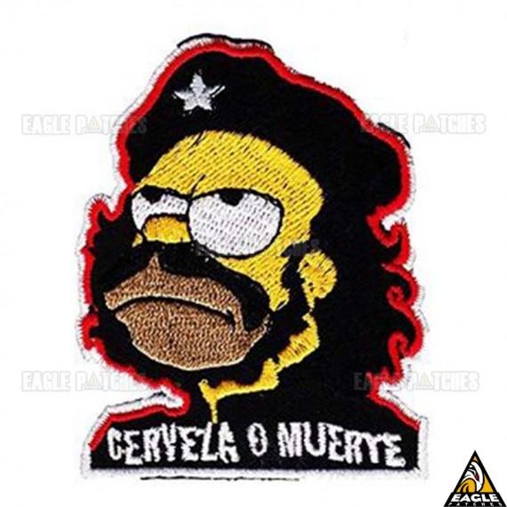 Patch Bordado Cerveza o Muerte - Homer Simpson