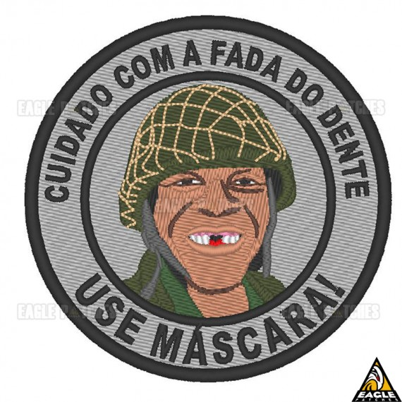 Patch Bordado Cuidado Com a Fada do Dente - Use Máscara!