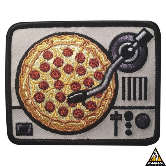 Patch Bordado Disk Pizza