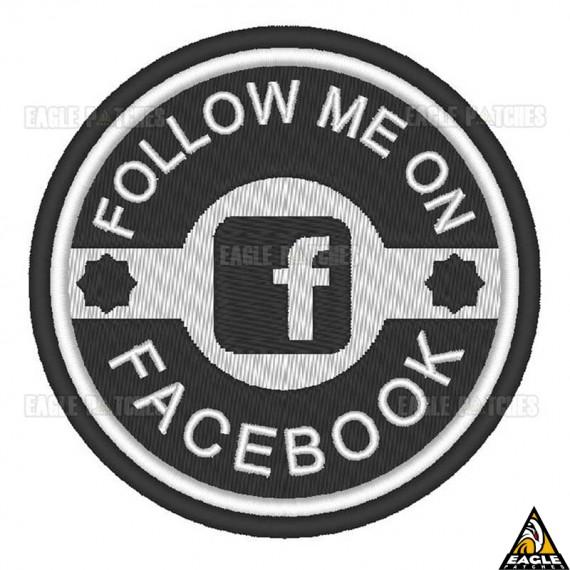 Patch Bordado Follow me on Facebook