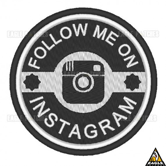 Patch Bordado Follow me on Instagram