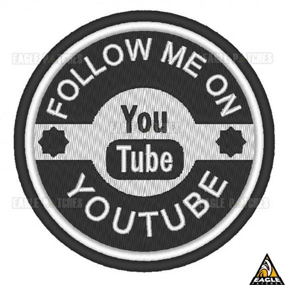 Patch Bordado Follow me on YouTube