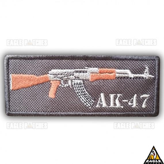 Patch Bordado Fuzil AK 47