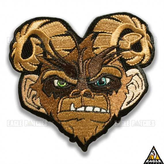 Patch Bordado Goat Monkey