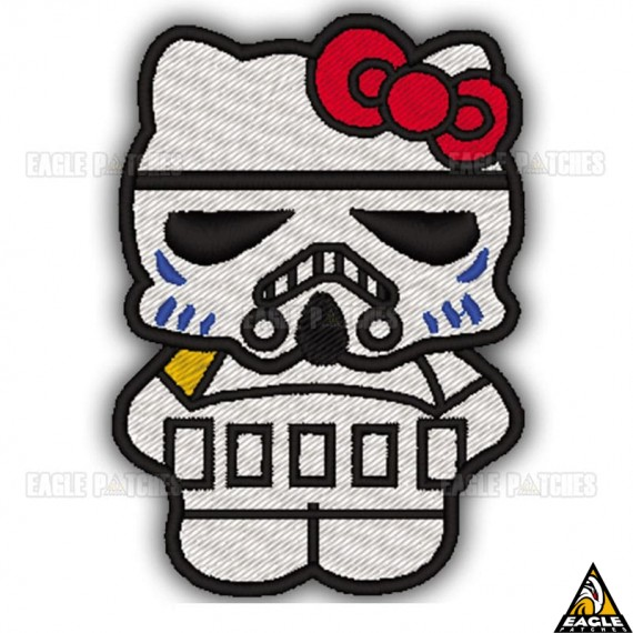 Patch Bordado Hello Kitty StormTrooper