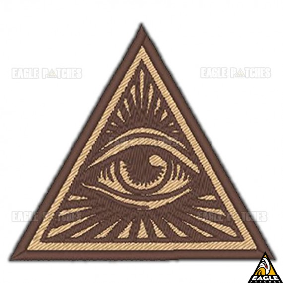 Patch Bordado Simbolo Illuminati ou G.'.A.'.D.'.U.'.