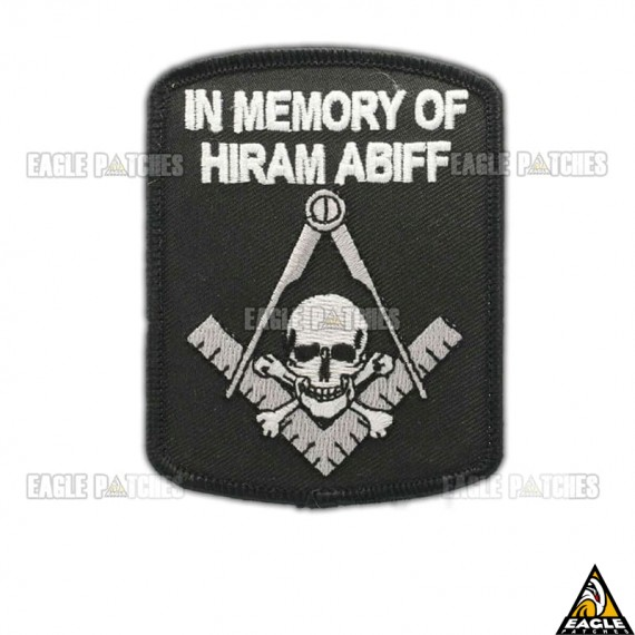 Patch Bordado In Memory Of Hiram Abiff