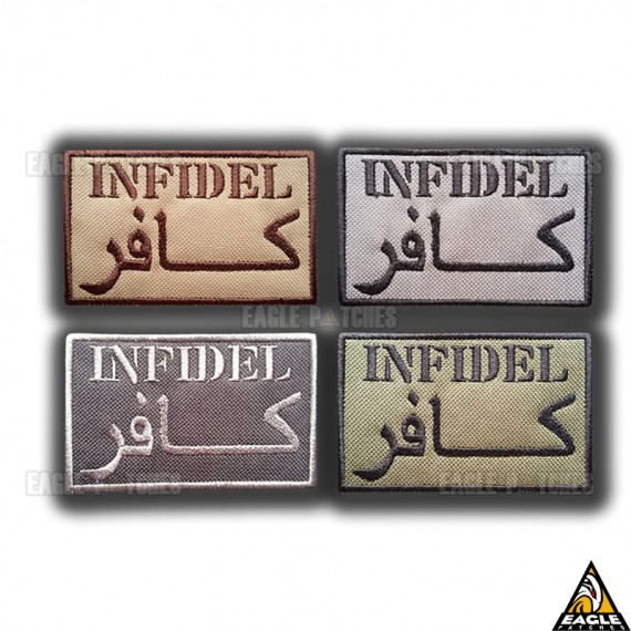 Patch Bordado Infidel (Militar americano)