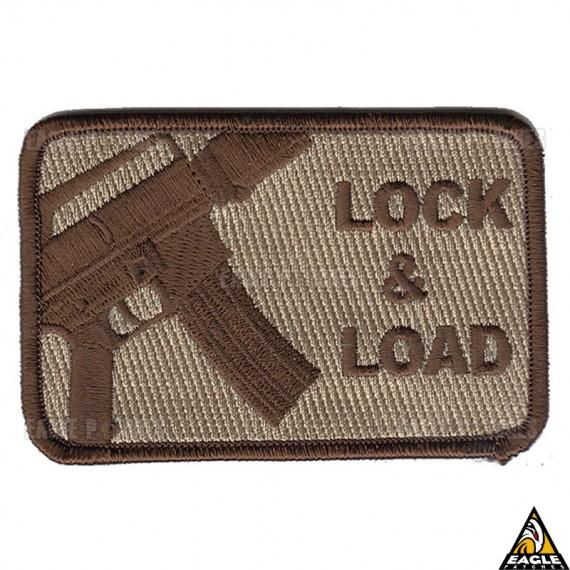 Patch Bordado Lock & Load Tan