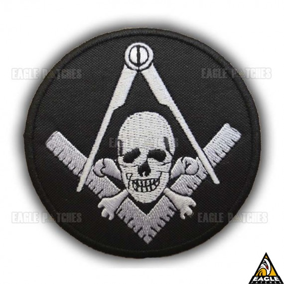 Patch Bordado Maçonaria Caveira