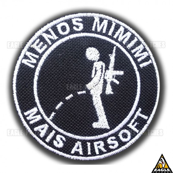 Patch Bordado Menos mimimi mais airsoft