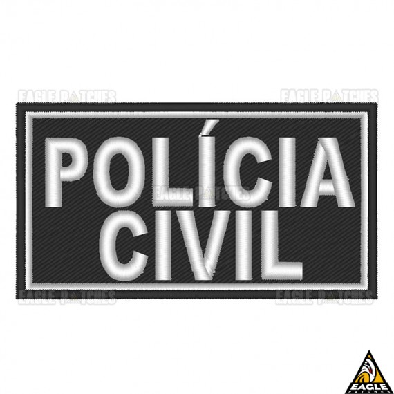 Patch Bordado para Capacete Polícia Civil