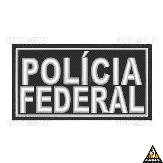 Patch Bordado para Capacete Polícia Federal