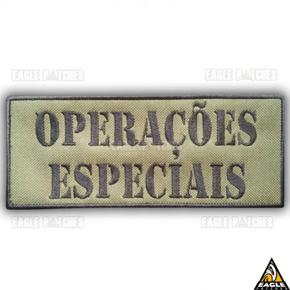 Patch Bordado Para Colete Operações Especiais