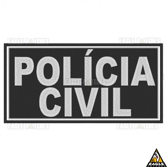Patch Bordado para Colete Policia Civil