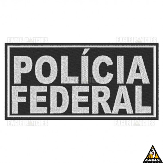 Patch Bordado para Colete Policia Federal