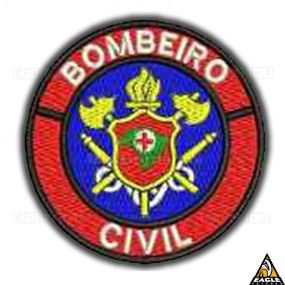 Patch Bordado Profissões - Bombeiro Civil