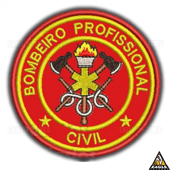 Patch Bordado Profissões - Bombeiro Profissional Civil