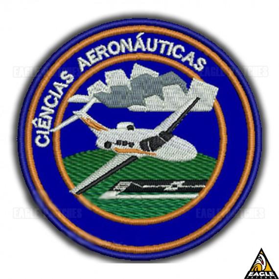 Patch Bordado Profissões - Ciências Aeronáuticas