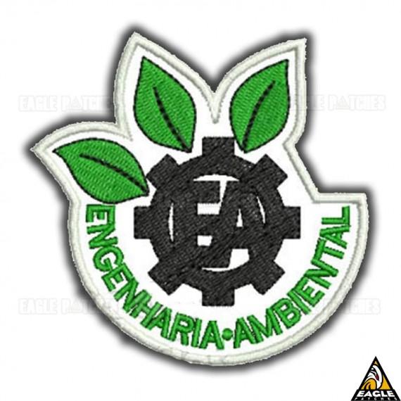 Patch Bordado Profissões - Engenharia Ambiental