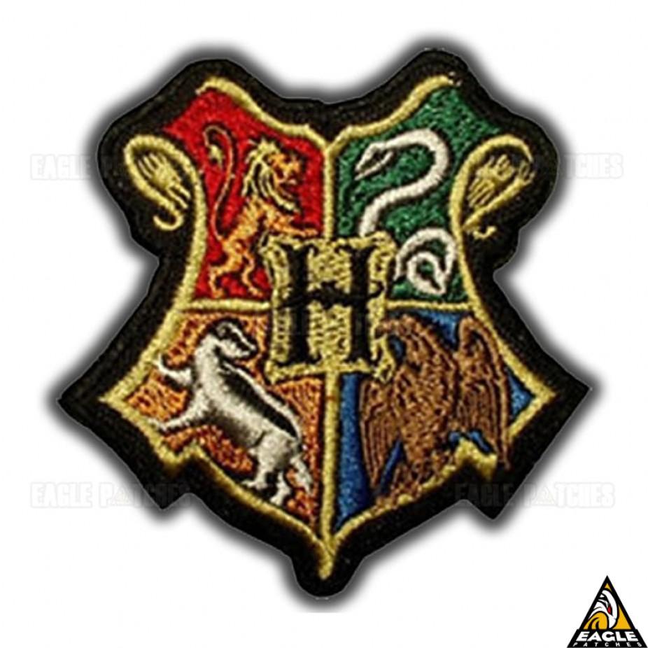 patch bordado harry potter simbolo de hogwarts