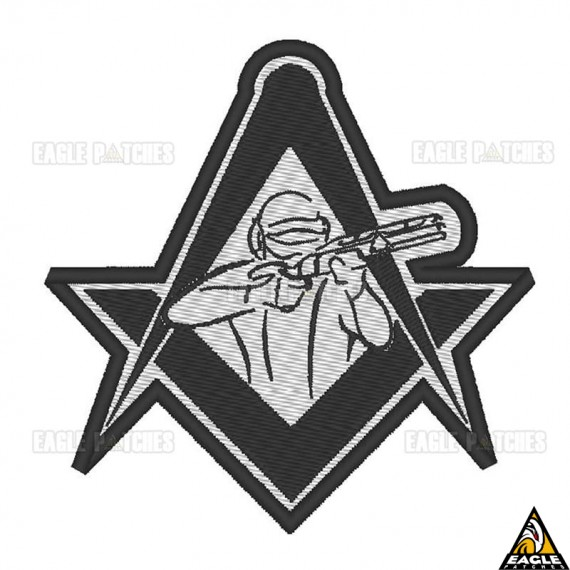 Patch Bordado Tactical Freemason
