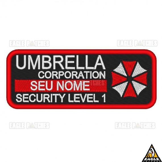Patch bordado Tag Personalizada - Umbrella Corporation - Resident Evil