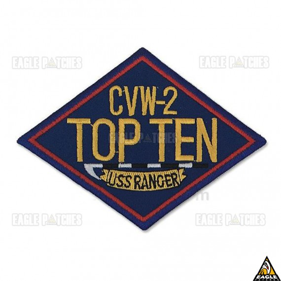 Patch Bordado Top Gun - CVW-2 Top Ten