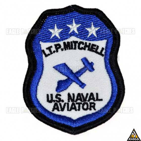 Patch Bordado Top Gun -  LT.P. Mitchell