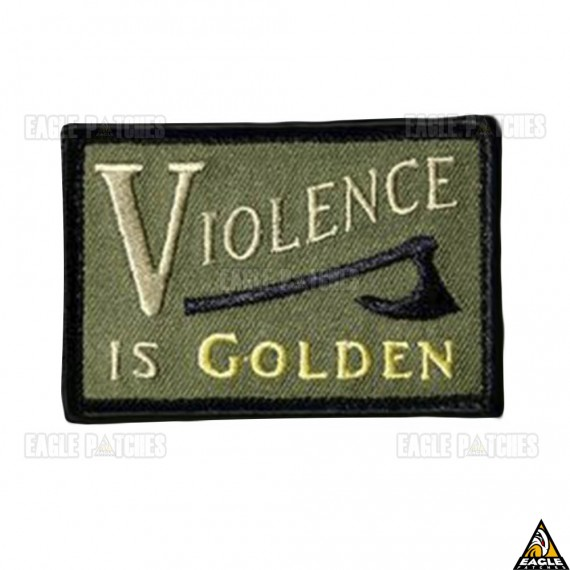 Patch  Bordados Violence is Golden
