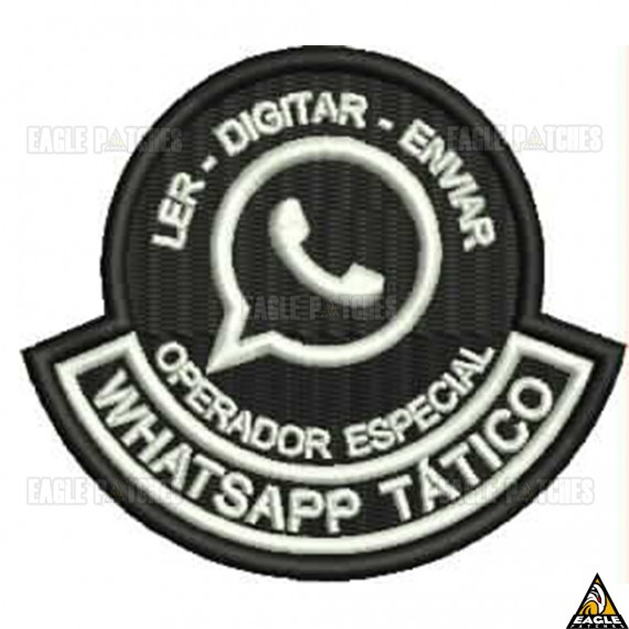 Patch Bordado WhatsApp Tático